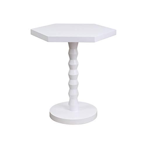 Hongsezhuozi Tisch Roter Kleiner Couchtisch Stilvoller Sechseckiger Tisch Geeignet Für Sofaseite Wohnecke Mit Lounge (Farbe : B)