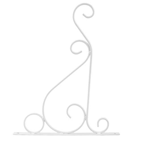 kemai Eisen Wandhalter Garten Wandleuchte Hängende Blume Blumentopf Halter Haken Large weiß - Wandleuchte Halter