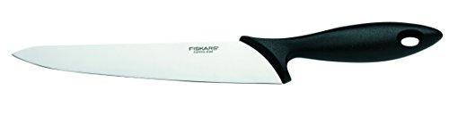 Fiskars Küchenmesser, Klingenlänge: 21 cm, Qualitätsstahl/Kunststoff, Essential, Schwarz, 1023776 (Mit Küchen-messer-set Spitzer)