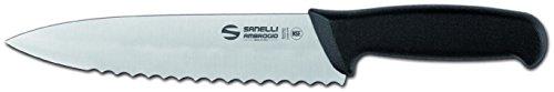 Sanelli ambrogio supra trinciante cuoco, lama dentata, 20 cm, acciaio inox, grigio
