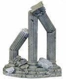 Resin Ornament - Three Column Ruins Curved Base by Blue Ribbon Pet (Products Pet Ornament)