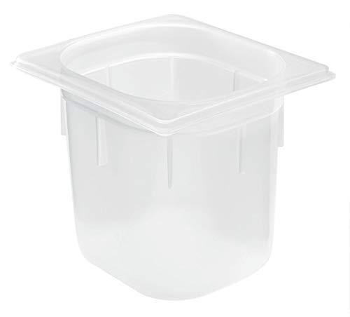 GN-Behälter Polypropylen 1/6, Größe 1/6 GN, 3.2l, 16.2×17.6×15.0cm (BxLxT), transparent, Kunststoff nicht gelocht 1 Stück