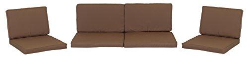 BEO cuscino cuscino cuscino ricambio per gruppi di Monaco Set sostituzione impermeabile Set con 8Lounge, spessore 5cm, sabbia