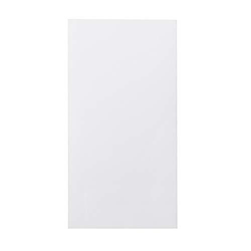Ycncixwd Plexiglas-Board, Acryl-Blatt, 10 x 20 cm, zum Basteln von Spielzeug, Modellbau weiß