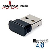 Bluetooth Adapter Dongle, GMYLE® Nano USB Broadcom BCM20702 Chip Klasse 2 Bluetooth V4.0 Dual Mode Dongle Drahtlos Adapter mit LED