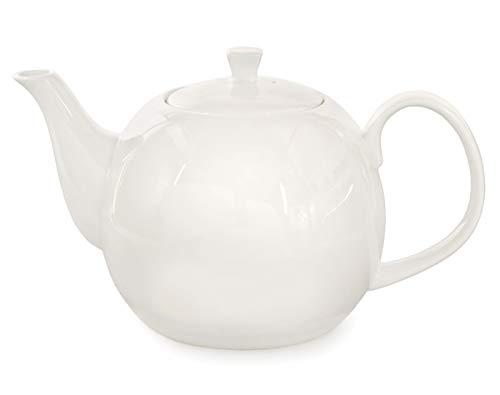 Buchensee Teekanne/Kaffeekanne 1,5 Liter. Fine Bone China Premium Qualität in fein-cremigem Weiß