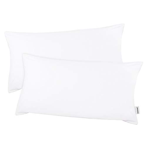Kissenbezug kissenhülle Kopfkissenbezug Bettkissenbezug Pillowcase, Adoric  [2er Set] Kissenbezug 100% Mikrofaser, 40 cm x80 cm.(Weiß)  -