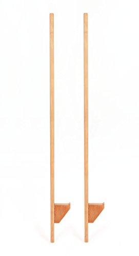 FLIXI Holz Stelzen – höhenverstellbare Kinderstelzen - zum Turnen und Balancieren - aus Buchenholz – Robustes Material - 140 cm