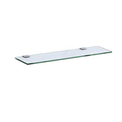 M-JJZX Floating Glass Regale Lagerung Bad Küche Regal Bad Regal Mit Chrom-Befestigungen Gehärtetes Glas (Ausgabe : 1 Pack, größe : 40 cm) -
