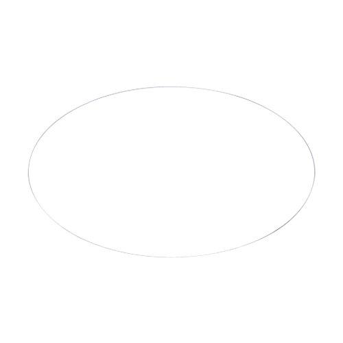 CafePress–Frauen blanko Oval Aufkleber–oval Bumper Sticker KFZ Aufkleber, weiß, Large - 4.5x7.5 (Wert T-shirt Glauben)