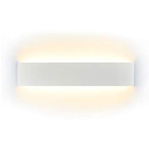 NetBoat LED Lampada da Parete 16W Bianco Caldo, Moderno Up Down Applique da Parete con 110V-260V, Interni Lampada a Muro per Bagno Lampada Soggiorno Camera da Letto Scale Corridoio Luce Notturna