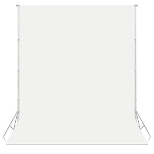 PHOTO MASTER 6x9piedi/1,8x2,8m Sfondo Pro Pieghevole di 100{04ce5b1de756636d11d583c9efb56b2c1466ec07e5916d7aa69654f904247c19} Mussola Fondale per Fotografia, Video e Televisione - Bianco