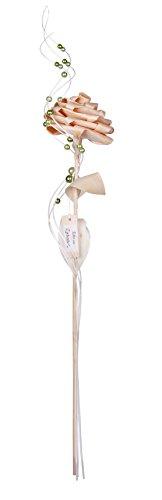 Zirbenrose - 60 cm / Blüte ca. 11 cm - Handarbeit aus Zirbenholz - Zirbenrose in Geschenksverpackung