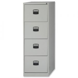 New , Trexus Filing Cabinet Steel Lockable 4-Drawer W470xD622xH1321mm Grey