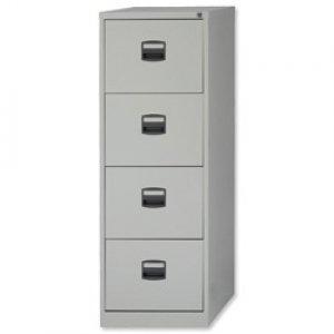 New , Trexus Filing Cabinet Steel Lockable 4-Drawer W470xD622xH1321mm Grey