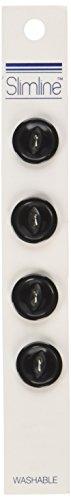 Blumenthal Lansing Slimline Buttons Series 1, Schwarz, 2 Löcher, 5/8 Zoll, 4 Stück - Schwarz 4-knopf-peak