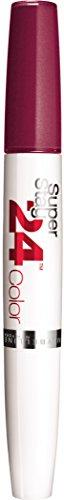 Maybelline Superstay 24H Lippenstift Nr. 250 Sugar Plum, farbintensiver, flüssiger Lippenstift mit bis zu 24 Stunden Halt, patentierte Micro-Flex-Formel, mit integriertem Pflegebalsam, 5 g (Cappuccino-lippenstift)