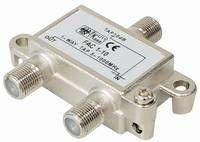 SAT/TV 1-fach Abzweiger|Schirmung 100 dB für Digitalsignale|F-Kupplung - 2x F-Kupplung|Consumer Digital Serie 5 - 1000 MHz | Abzweigdämpfung 12dB