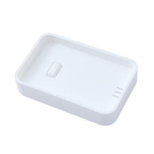 Yvelands portasapone contenitore doppio serbatoio di stoccaggio bagno(bianca)