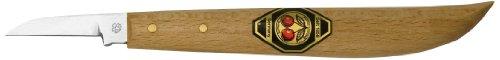 Kirschen 3363000 Kerbschnitzmesser mit rundem Rücken und schmaler, gerader Schneide -