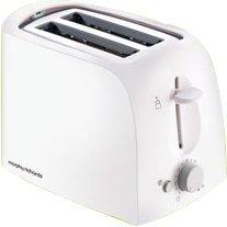 Morphy Richards AT-201 2-Slice 650-Watt Pop-Up Toaster (White)