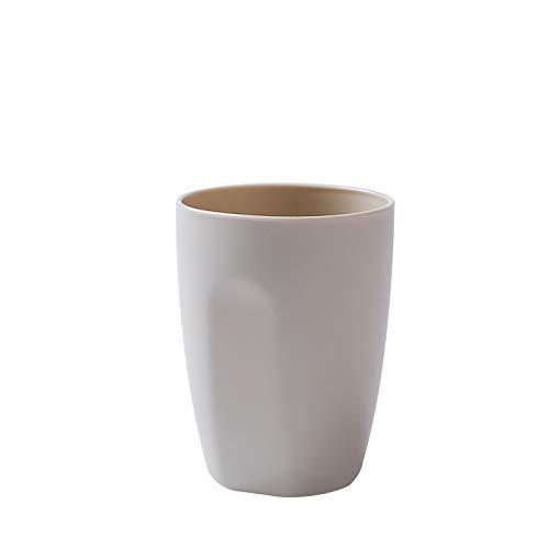 Einfache mund tasse runde kunststoff zahnbürste tasse paar bürsten tasse bad bad haushalt topf tasse beige -