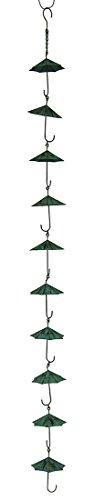 Grünspan Finish Metall Schirme Regen Kette w/befestigt Aufhänger 121,9cm