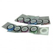 New 10pcs Nail Art Striping Tape Line Sticker Decoration for UV Acrylic Nails-Color Random