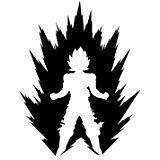 DBZ Dragon Ball z Power up Super Saiyan, die Cut Vinyl Aufkleber, für Windows, Autos, Lkws, Toolbox, Laptops, MacBook-Virtually Jede Harte Glatte Oberfläche Weiß Weiß 6 inch (Z Ball Computer Dragon)
