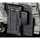 Cocomii Robot Armor Galaxy A7 Hülle NEU [Strapazierfähig] Erstklassig Gürtelclip Ständer Stoßfest Gehäuse [Militärisch Verteidiger] Ganzkörper Case Schutzhülle for Samsung Galaxy A7 (R.Black) A700 Cell Phone