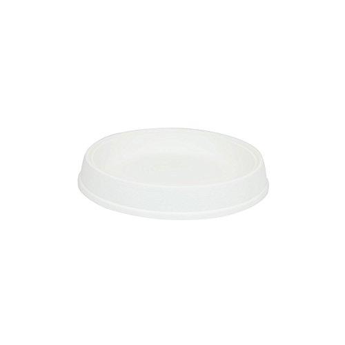 Soucoupe support Massive en plastique de diam. 27 cm, en blanc