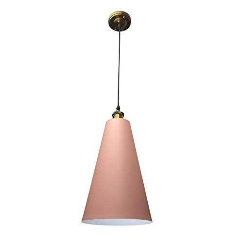 Kronleuchter Deckenpendelleuchte Industrieller Ein-Licht-Innenanhänger, Nickel gebürstet mit Metallschirm lights (Color : C) -