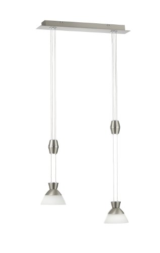 Paul Neuhaus 2453-55 Pendelleuchte, 2 x 4.5 W LED, stahl