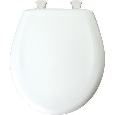Bemis 200SLOWT 788 Toilet Seat, Slow-Close Round Closed Front Plastic w/Easy-2-Clean Hinges – Sandbar by Bemis