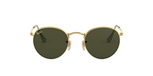 Ray-ban rb 3447, occhiali da sole unisex-adulto, oro (verde classica, 53 mm
