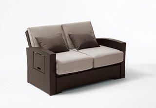 Divano giardino trasformabile letto da esterno in rattan minas mobili da giardino - Letto da esterno ...