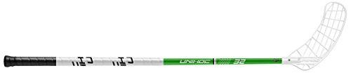 Unihoc Floorballschläger Player 32, neon grün, 92 cm Schaftlänge, für Rechtshänder, rechte Hand Oben am Schläger, sogenannter Linksausleger