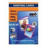 PPD DIN A4 260 g/m2 Inkjet blanko Grußkarten Einladungskarten Klappkarten Fotopapier für Tintenstrahldrucker beidseitig bedruckbar glänzend matt 260g DIN A4 gefalzt auf DIN A5 x 20 Karten PPD051-20
