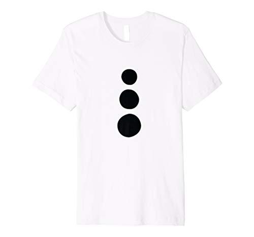 Schneemann Kostüm T-Shirt–Einfache Halloween-Kostüm