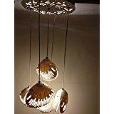 #5: Crystal hanging modern ceiling light Set of 5 Pendant light for ceiling com chandelier