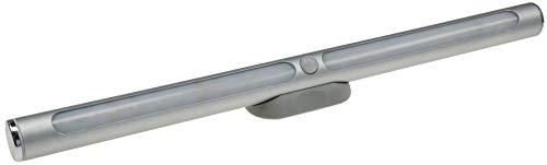 LED Alu Wand Spiegel Leuchte Magnethalter 30cm aufladbar 570 Lumen matte Front (neutralweiß, mit Sensor) (Akku-wand Spiegel)