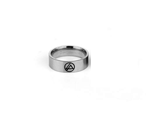 HDCooL Stainless Steel Ring Fancy Dress Costume Accessories Finger Jewelry Lincoln Park Gift for Couples Family Best Friends Color Silver 11#