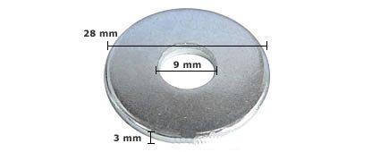 Preisvergleich Produktbild 100 Stck Unterlegscheibe DIN 440 verzinkt,  M8