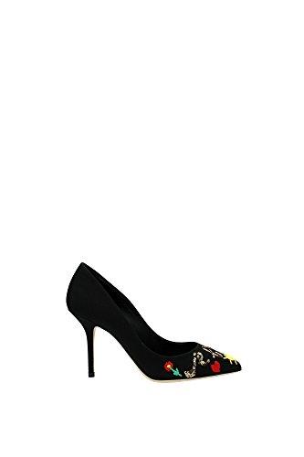 CD0246AL8778S574 Dolce&Gabbana Talon Femme Tissu Noir Noir