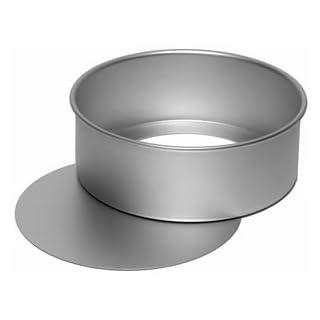 Alan Silverwood eloxierte runde Kuchenform, herausnehmbarer Boden, 23 cm Durchmesser