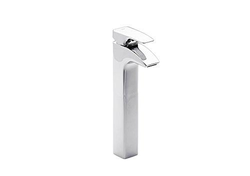 Roca Thesis – grifo monomando para lavabo con caño alto y desagüe automático . Griferías hidrosanitarias Monomando. Ref. A5A4450C00