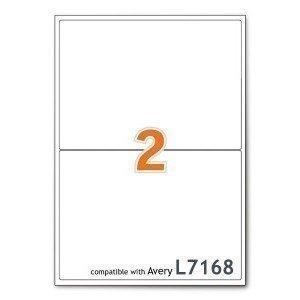 200 Etiketten 210x297mm, 100 Blatt DIN A4, geeignet für Inkjetdrucker-, Laserdrucker und Kopierer. (Laserjet-etiketten)