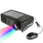 Android 4.0 Wifi Portable Mini LED Projector 5.0 Inch LCD Screen For Home Theater, Support HDMI