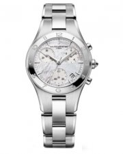 Baume and Mercier Women's Linea Chronograph Mother of Pearl Dial 32 mm Watch 10012