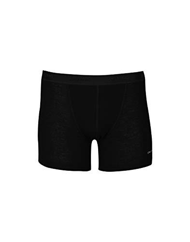 DILLING Merino Boxershorts für Herren - 100% Bio-Merinowolle Schwarz XL